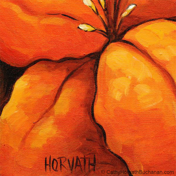 orange blossom painting detail 3 by cathy horvath buchanan