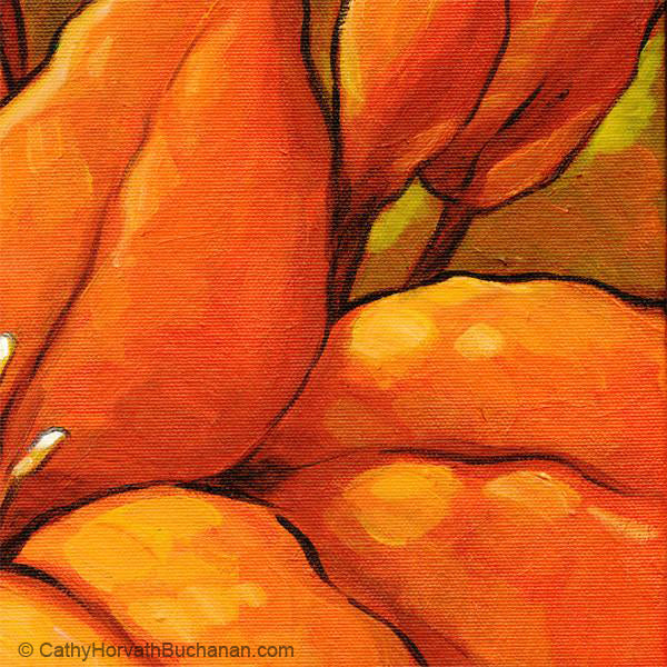 orange blossom painting detail 1 by cathy horvath buchanan