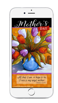 Mothers Day Digital Wallpaper Art for Desktop, Laptop, Phone Devices by Cathy Horvath Buchanan