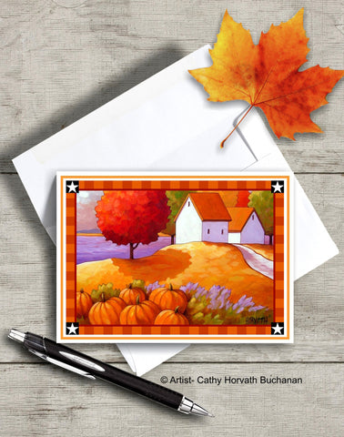Printable Card Kit Pumpkin Lavender, PDF Instant Download