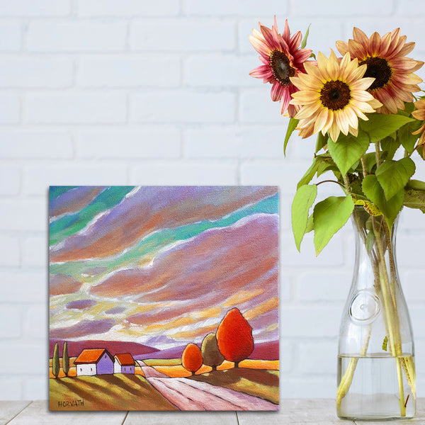Road to Colorful Sky - Original Painting in setting