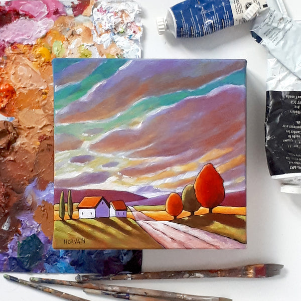 Road to Colorful Sky - Original Painting