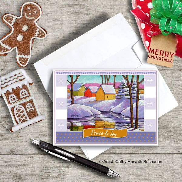 Snowy River, Christmas Printable Card Kit, PDF Instant Download by Cathy Horvath Buchanan