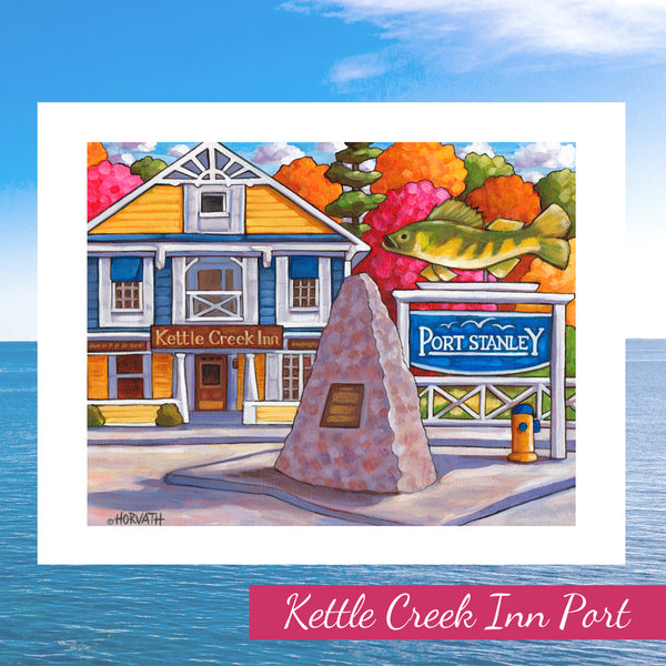 Port Stanley 'Kettle Creek Inn' Folk Art Print Giclee