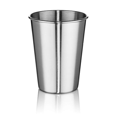 Stainless Steel Tumblers 12 oz - Set of 6 Stackable Tumbler Cups