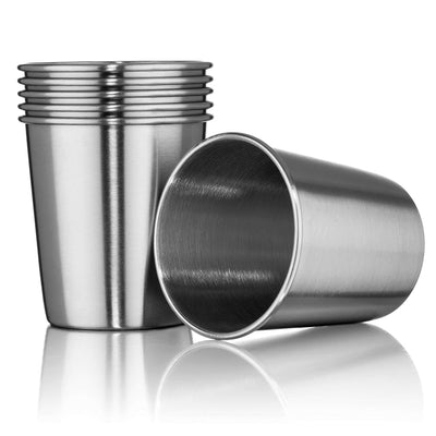 Stainless Steel Tumblers 7oz - Set of 6 Stackable Tumbler Cups for Kids