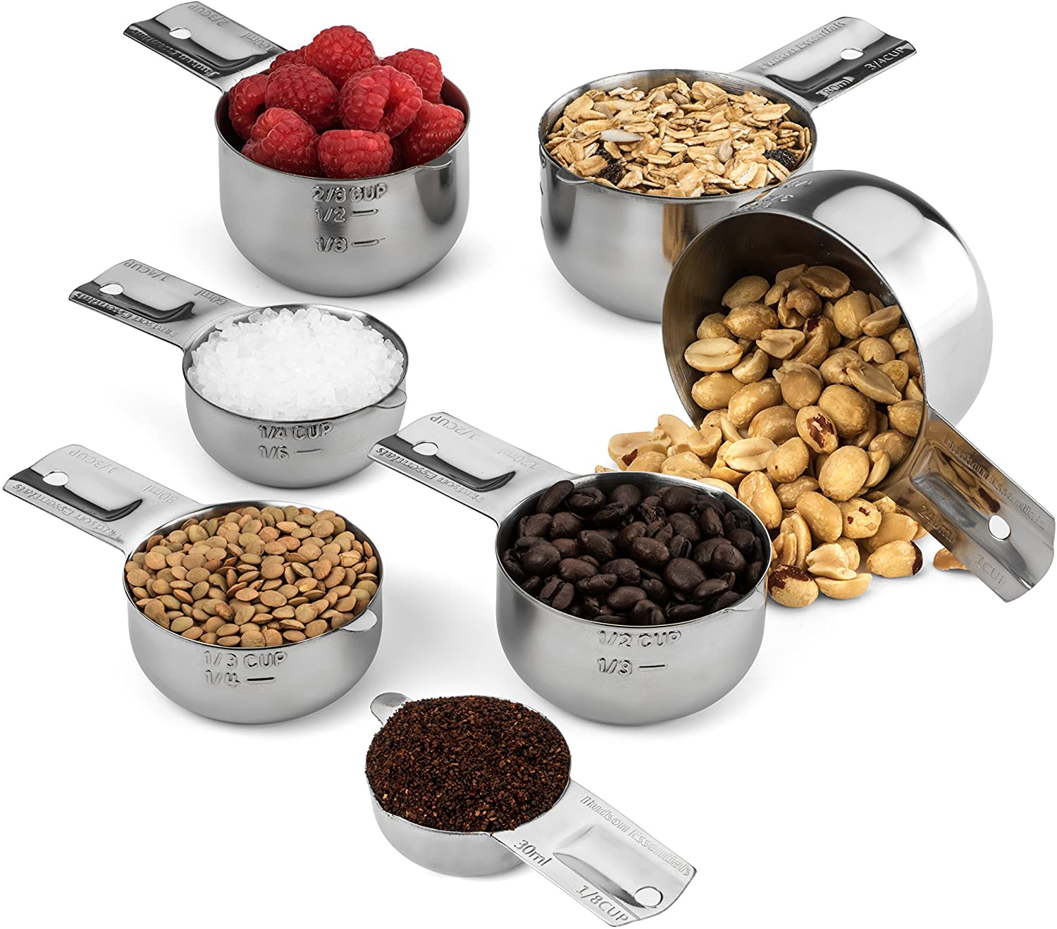 Hudson Essentials Stainless Steel Measuring Cup - Replacements and Odd Size Measuring Cups