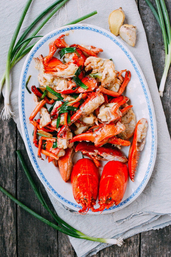 Lobster with ginger...</p>            </div>      <p class=