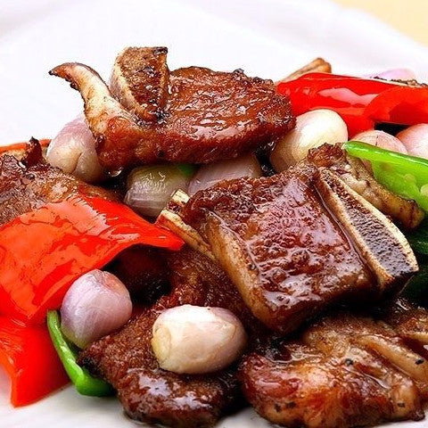 Grilled beef short ribs in Maggi sauce