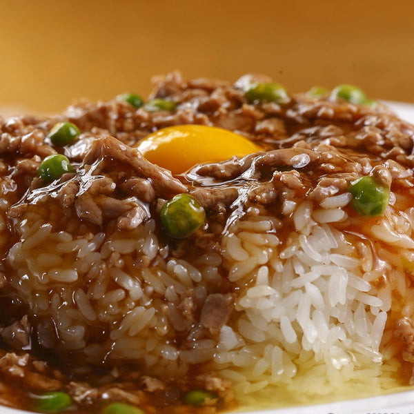 Cantonese minced beef rice bowls - Restaurant PM