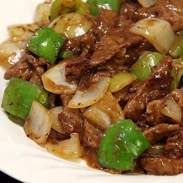Beef with pepper in black bean sauce - Restaurant PM