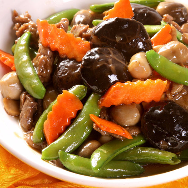 Beef with 2 kinds of mushrooms in Oyster Sauce - Restaurant PM