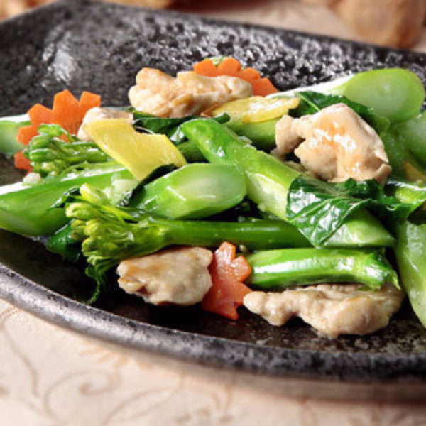 Chicken with Chinese broccoli / baby bok choy - Restaurant PM