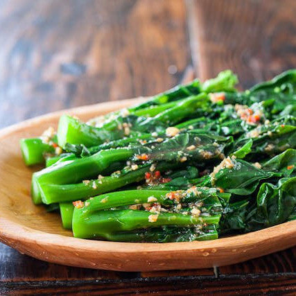 Stir fried Chinese broccoli with garlic - Restaurant PM