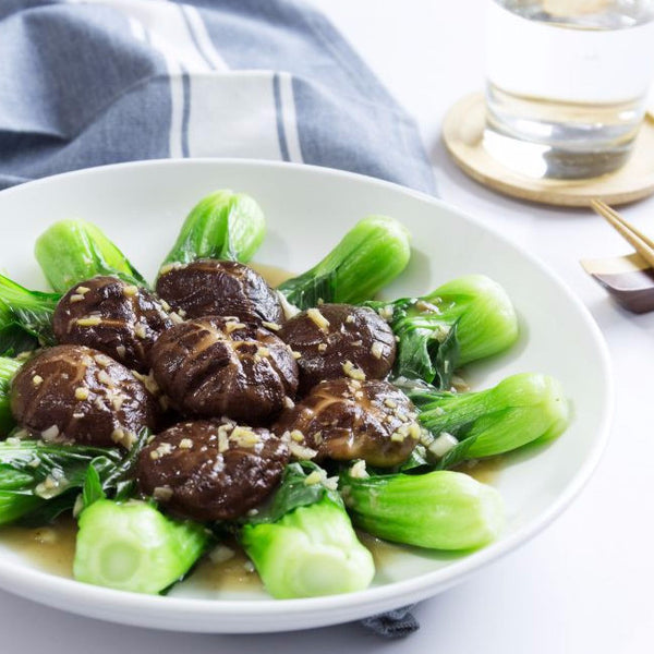 Baby bok choy with Chinese mushrooms - Restaurant PM