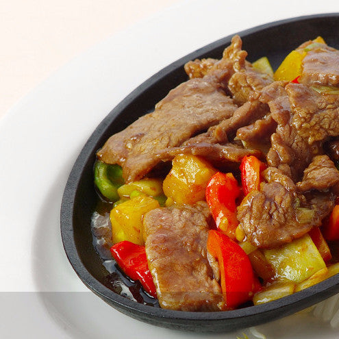 Beef with Singapore curry sauce / with red curry