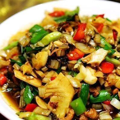 Shredded pork with Chaozhou vegetables