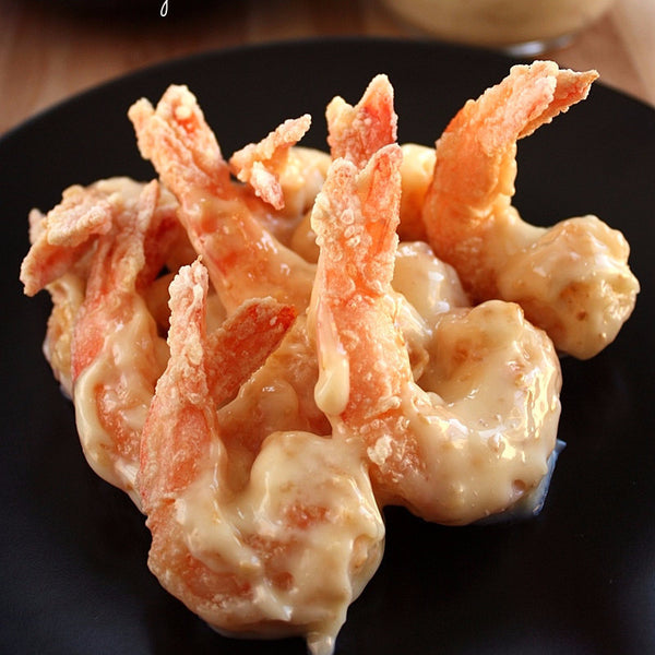 Shrimps in mayonnaise sauce