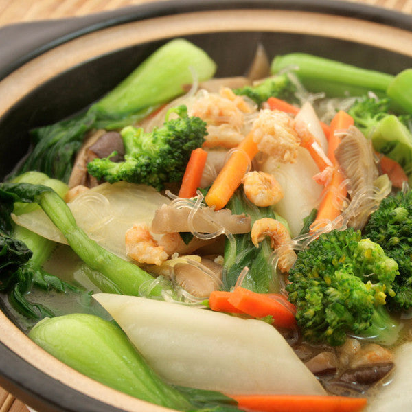 Mixed vegetable and mushrooms hot pot with vermicelli - Restaurant PM