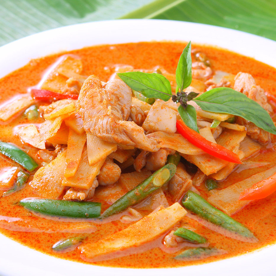 Thai chicken with pepper, onion and sweet sugar pea - Restaurant PM