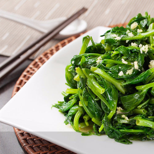 Stir fried snow pea leaves with garlic or plain - Restaurant PM