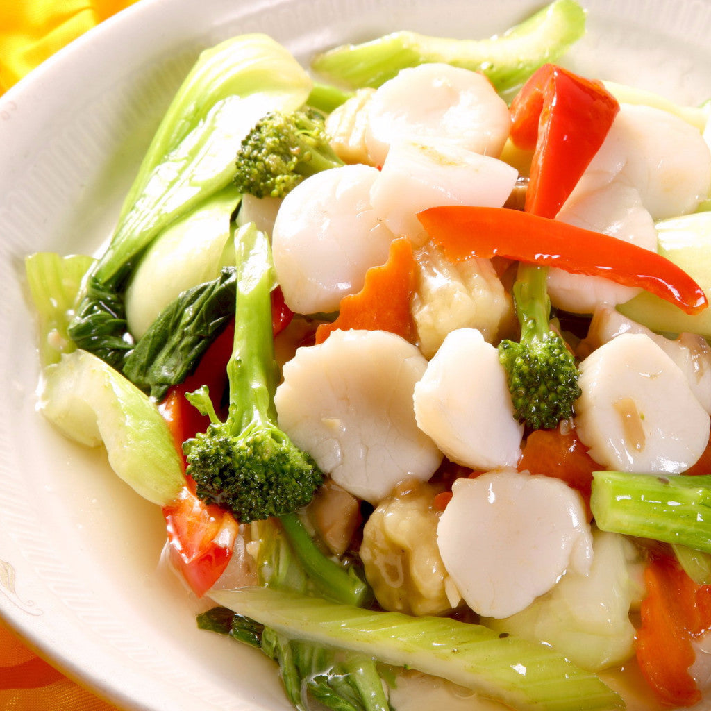 Scallops with mixed vegetables - Restaurant PM