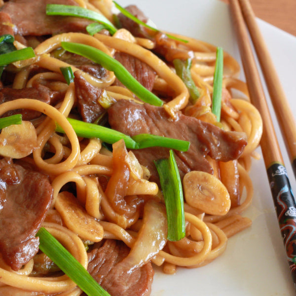 Shanghai Udon noodles with soy sauce