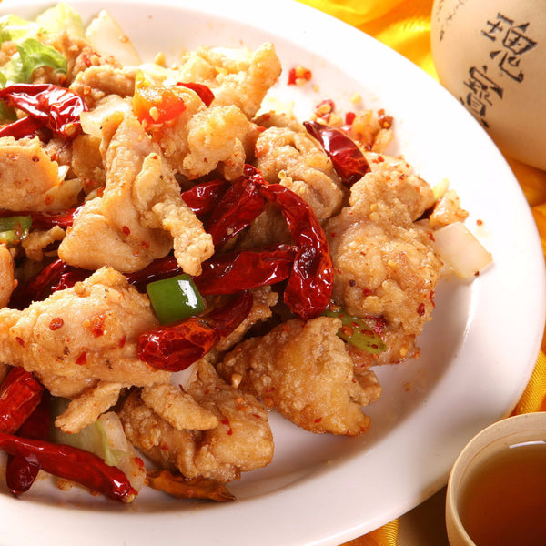 Spicy Salt fried chicken with Chinese wine