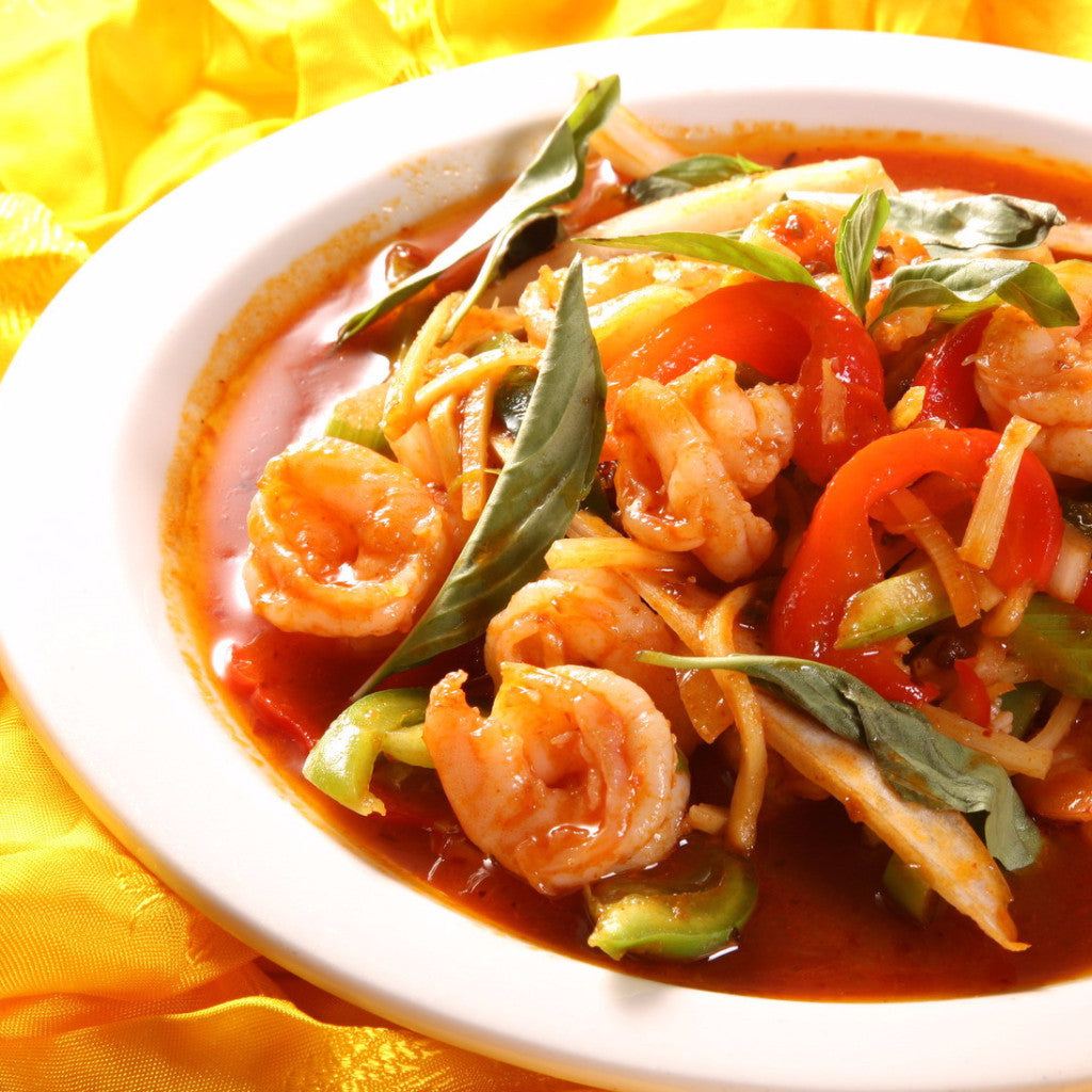 Thai shrimps with pepper and onion - Restaurant PM