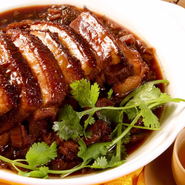 Traditional steamed pork with preserved vegetables