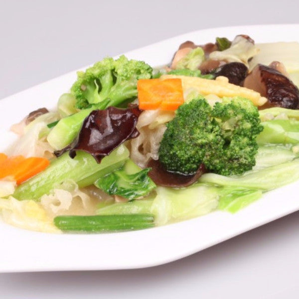 Stir fried mixed vegetables with mushrooms - Restaurant PM