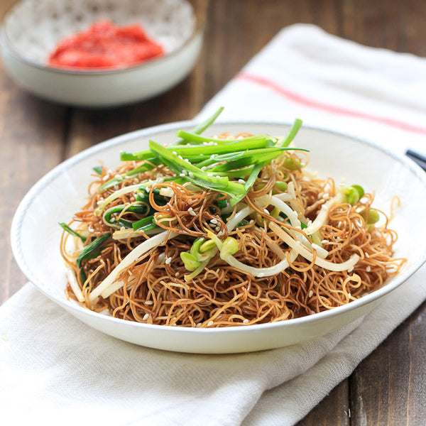 Stir fried Egg Noodles with Soy Sauce