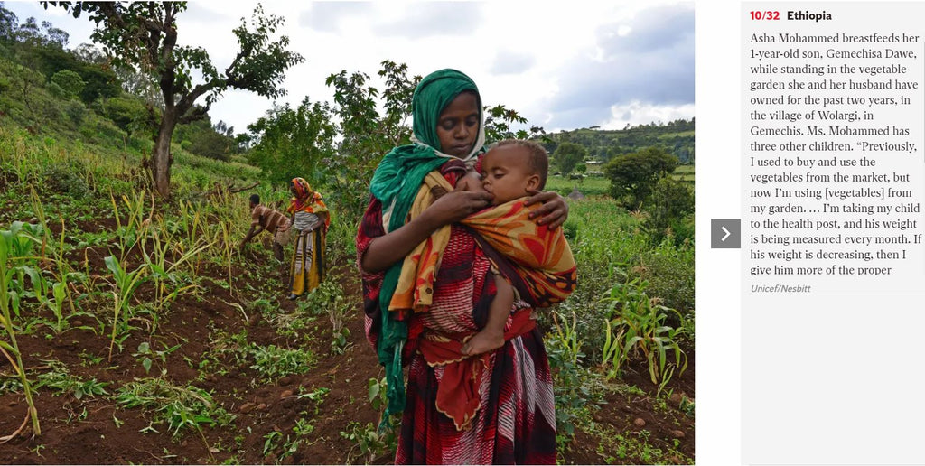 Ethiopia - Asha Mohammed breastfeeds her 1-year-old son