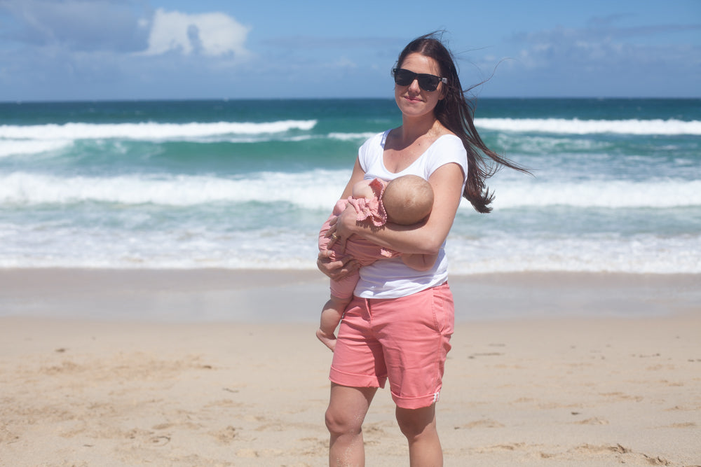 breastfeeding at the beach