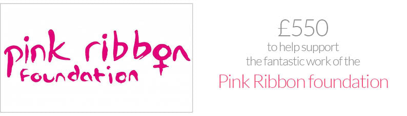supporting pink ribbon foundation