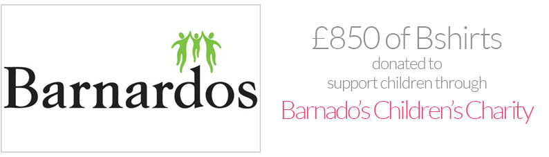 supporting Barnados children's charity