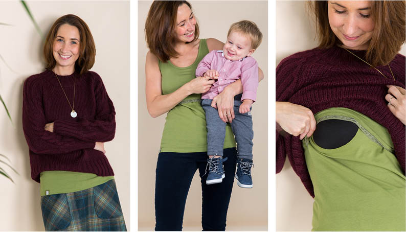 green bshirt for breastfeeding