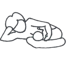 side lying position