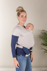 Ergo Aura Wrap in Grey Stripes - WITH FREE BSHIRT