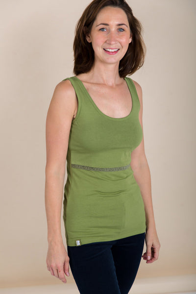 Organic Bshirt Lift the Flap in Forest Green