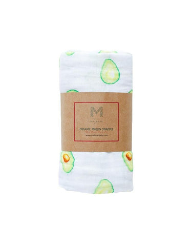Malabar Baby - Avocado Organic Cotton Swaddle