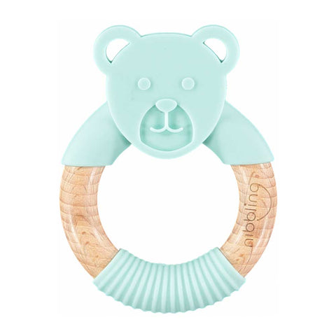 Nibbling - Ted Bear Forest Friends Teething Toy – Mint