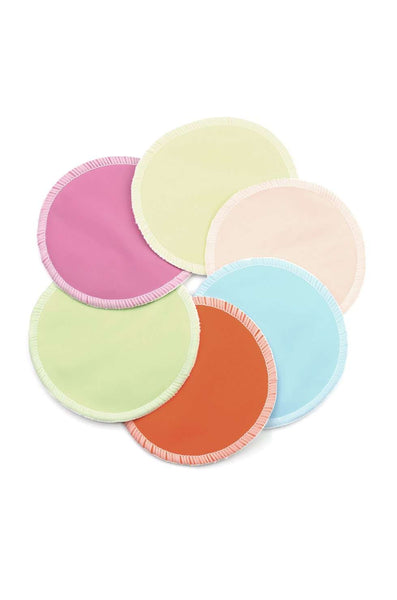 Washable Breastfeeding Pads, Rainbow pads (3 pairs - no wet bag)