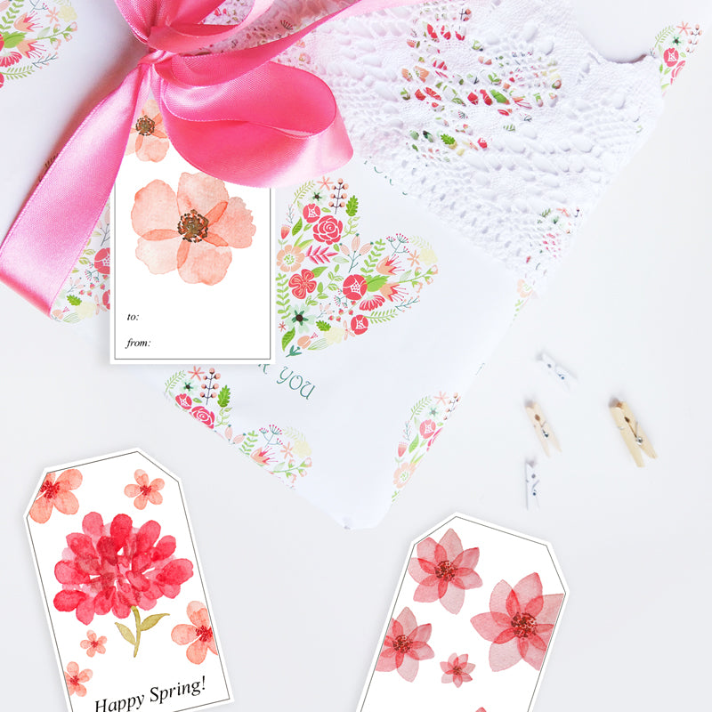 photo relating to Printable Spring Pictures called No cost Printable Spring Present Tags Pré de Provence