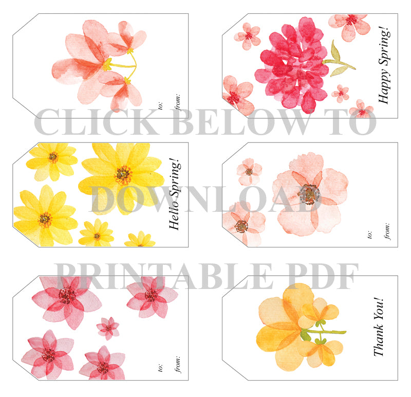graphic about Printable Spring Pictures titled Cost-free Printable Spring Present Tags Pré de Provence
