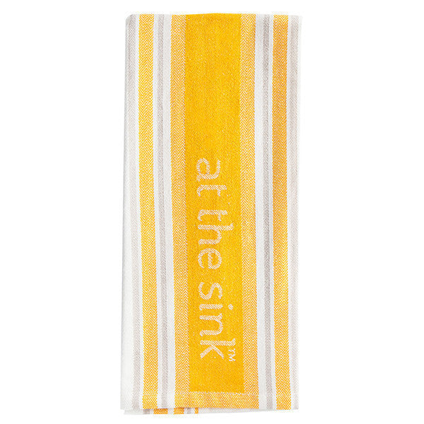 At The Sink Yellow Dishtowel