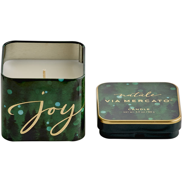Natale Square Candle - Joy