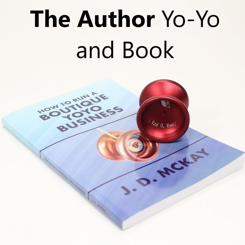 "Rain City Skills The Author Yo-Yo - Powerful Light Weight YoYo - Includes J.D. McKay's Book ""How to Run a Boutique Yoyo Business"" - YoYoSam"