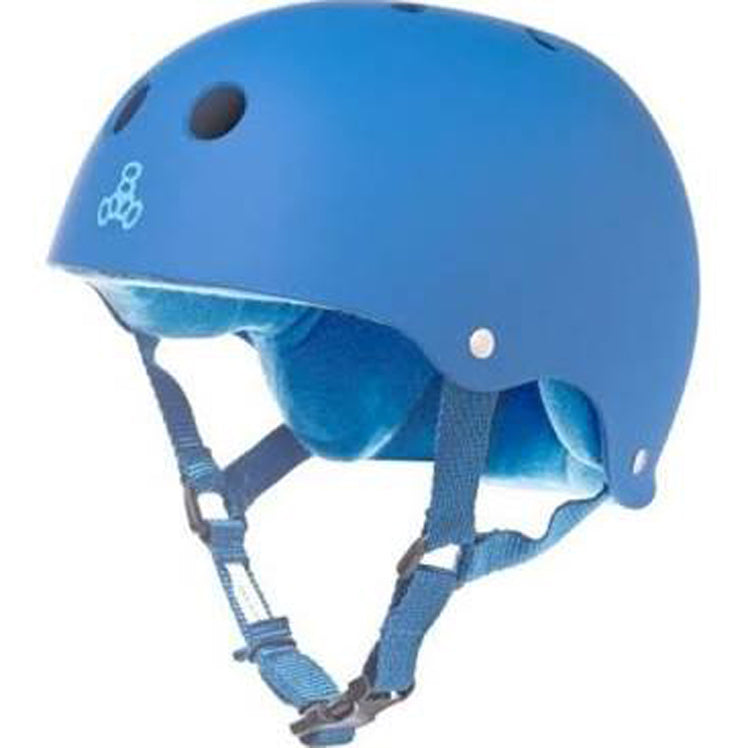 Triple 8 Rubberized SweatSaver Helmet - Blue - YoYoSam