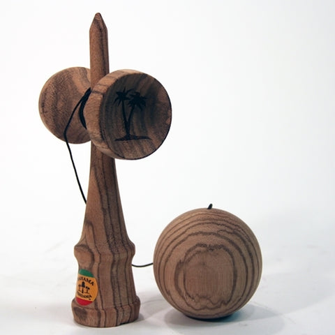 Bahama Kendama Deluxe Solid Zebrawood Kendama - Zebra Wood - Natural Finish - YoYoSam